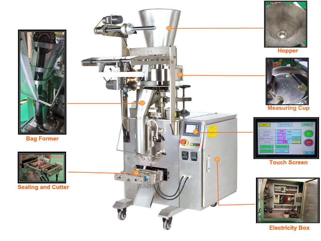 50g 100g modified atmosphere cashew nut small packing machine