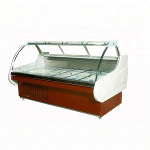 Meat display counter/meat refrigerator showcase/meat display freezer