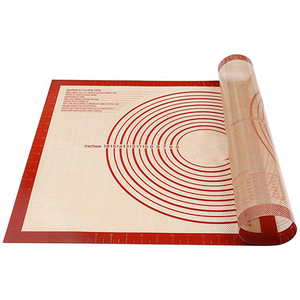 Non-slip Extra Large Silicone Pastry Mat with Measurements Fiberglass Silicone Baking Mat