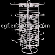 Metal Wire Counter Battery Charger Display Rack with Sign Holder