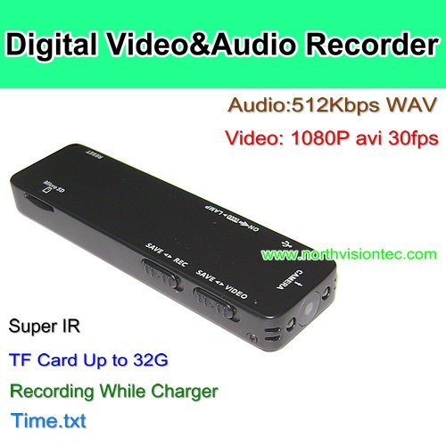 High Quality Vedio recording Digital cheap voice recorder with Camera