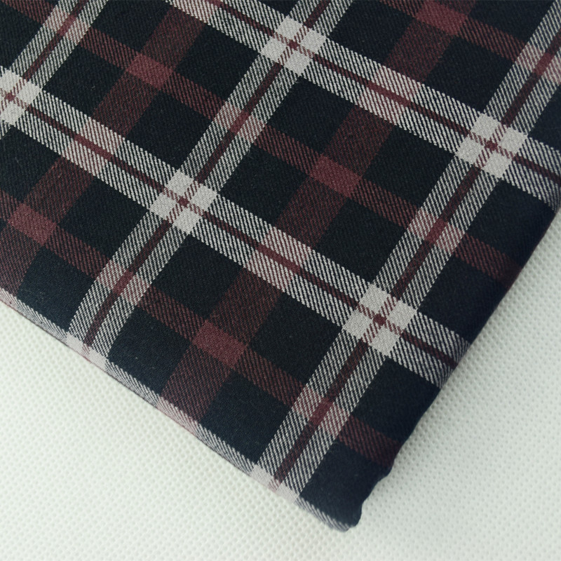 custom high yarn count100% cotton yarn dyed shirt fabric