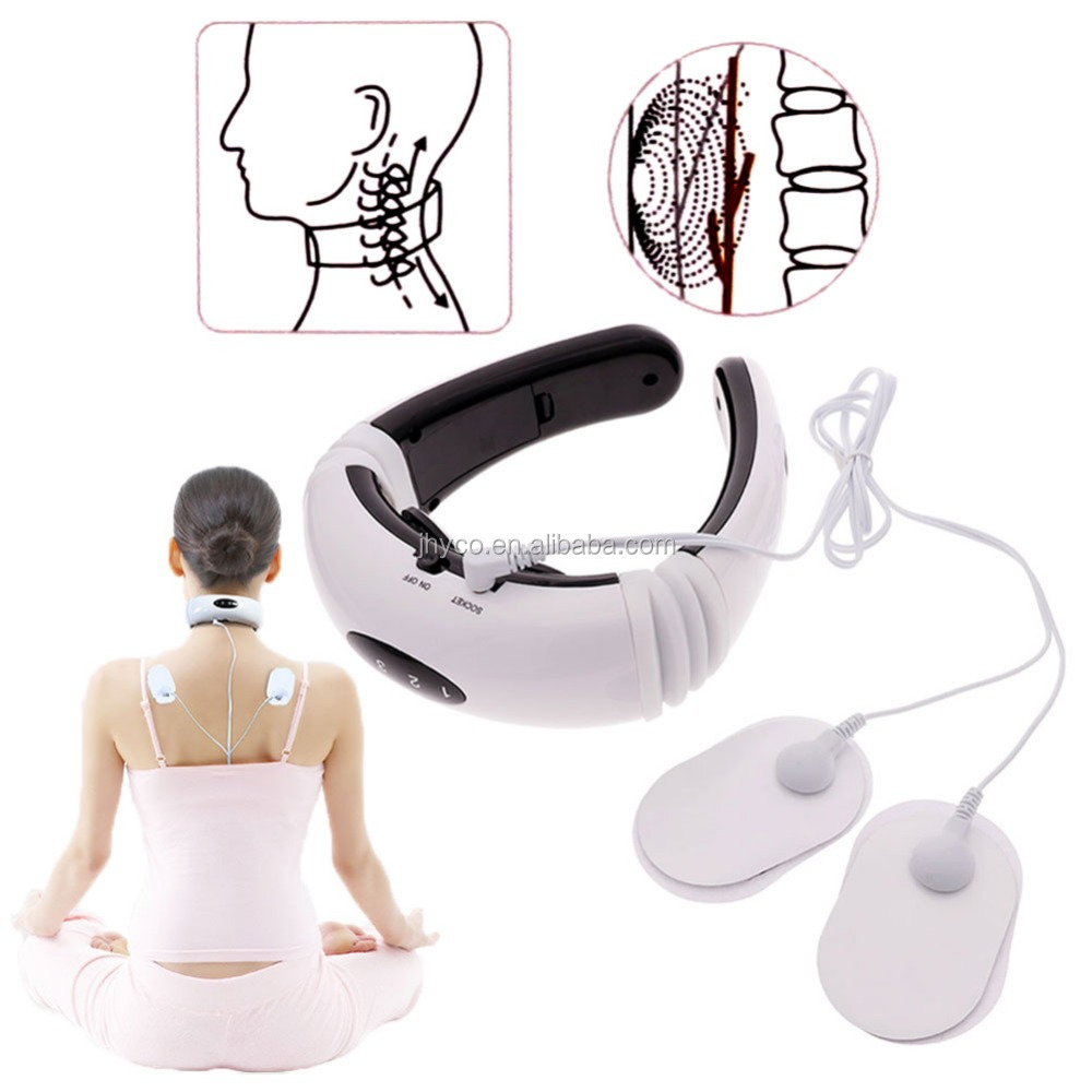 free shipping sample U shape electric Cervical Vertebra <strong>massager</strong> Impulse Acupuncture magnetic therapyTreatment neck <strong>massager</strong>
