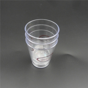 Reusable Mini Clear 2oz Biodegradable Disposable Ice Cream Plastic Cup