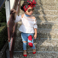 2 piece Little girls clothing set with best service and low price 2019 summer Amazon hot sale