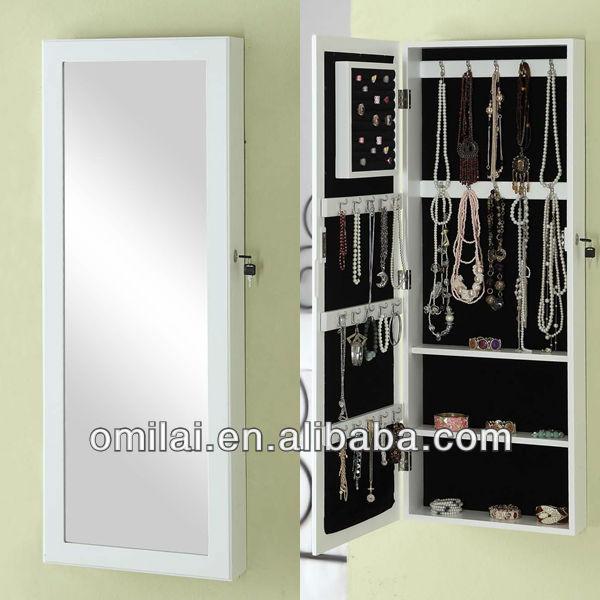 La pared cuelgan joyer a armario con espejo en blanco - Espejos para armarios ...