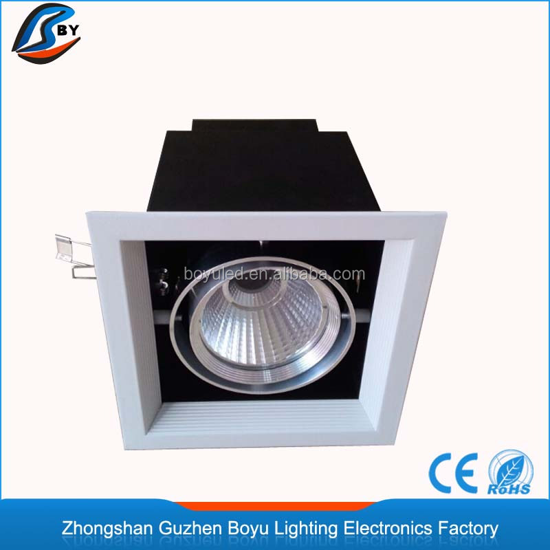 Commercial square <strong>downlight</strong> 12W cob led grille down lighting for barber shop