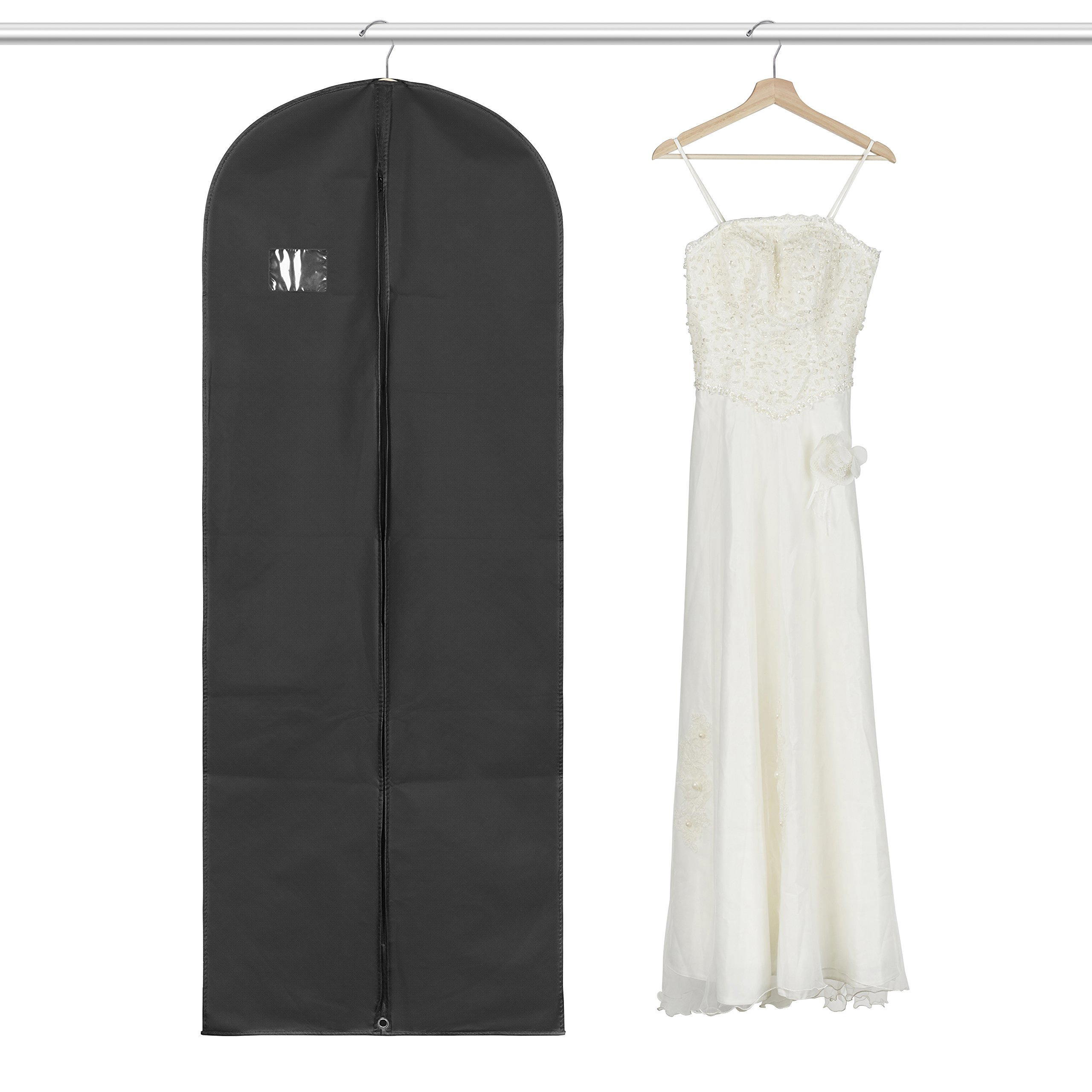 6173bf94a59 Get Quotations · Titan Mall Suit Long Dress Garment Bag Black Robe Garment  Bag (24