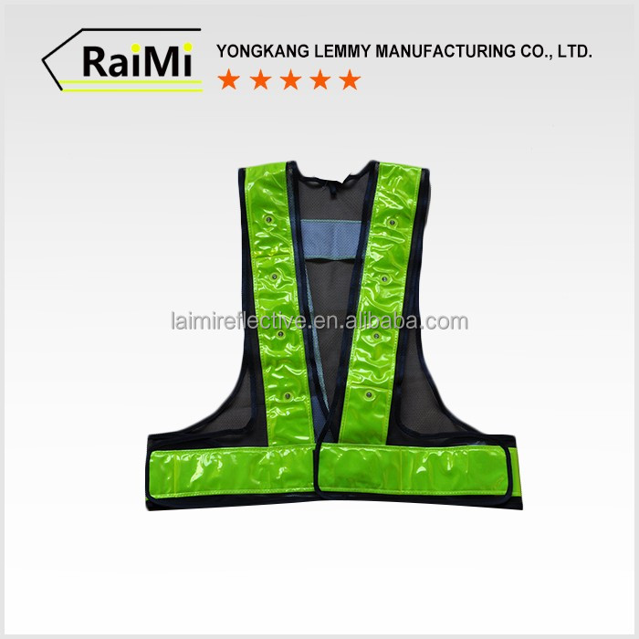 Wholesale cheap safety vest led reflective belt