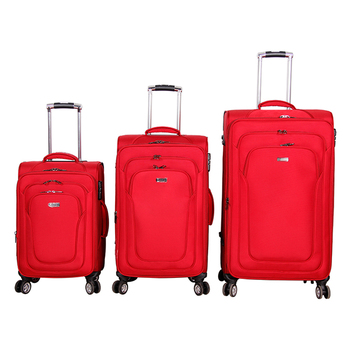 06308bab95 wholesale 2018 hot sale high quality nylon 4 wheels suitcase trolley  luggage travel bags