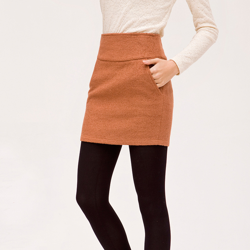 Hot sale! 2015 Autumn/Winter Women Brand Basic Woolen Short Slim Hip Many Colors Classic Fashion Plus Size Wool Skirts