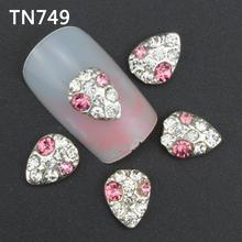 10pcs Glitter crown Rhinestones 3d Nail Art Decorations Alloy Nail Sticker Charms Jewelry for Nail Gel