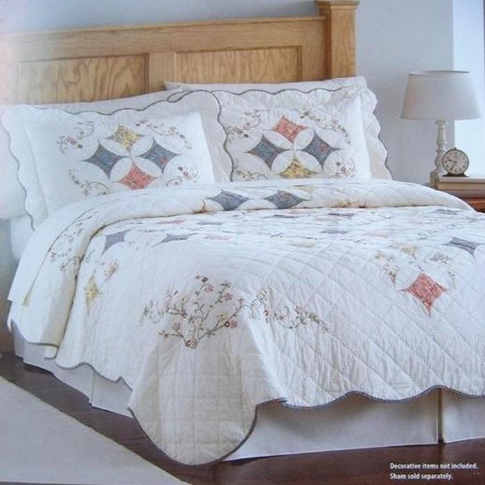 100 coton la main couvre lit piqu brod couvre lit trois pi ces ensemble de literie dans. Black Bedroom Furniture Sets. Home Design Ideas