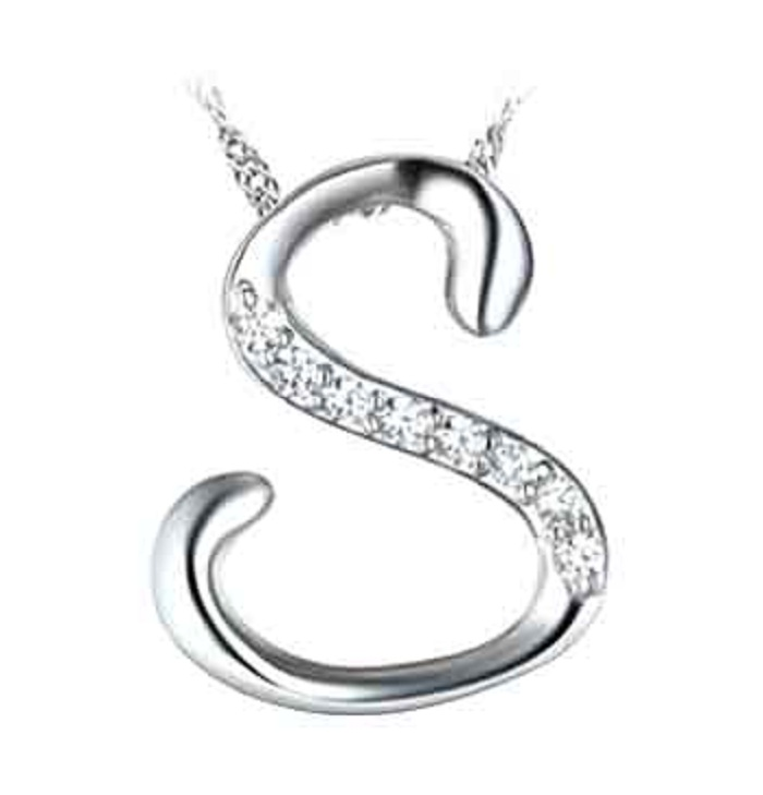 Manufacturing Sterling Silver Letter S Alphabet Pendant Design - Buy S  Alphabet Pendant Design,Letter S Pendant,Sterling Silver Alphabet Pendant