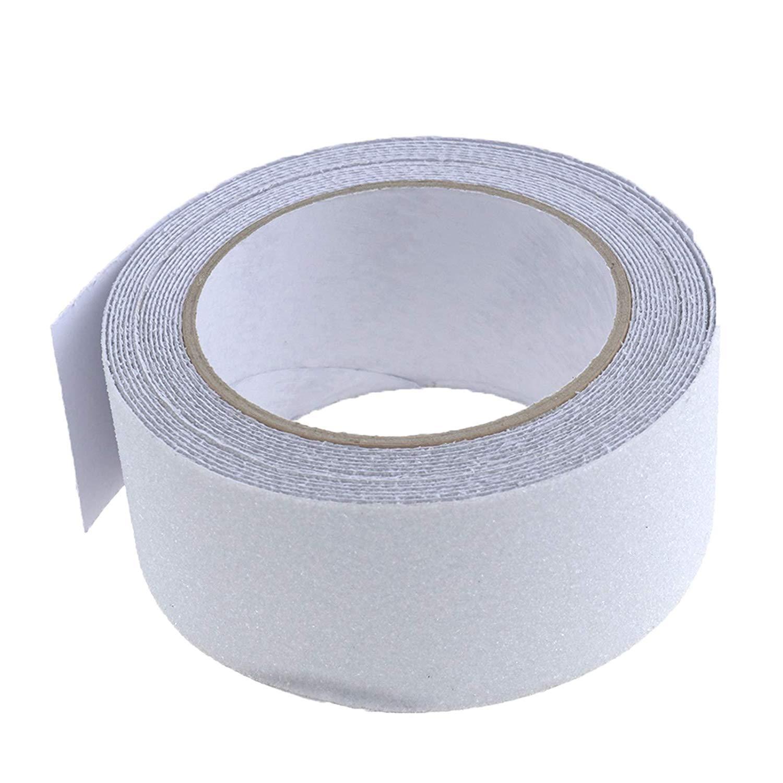Micro Trader 5M Transparent Anti-Slip Waterproof Non-Slip PVC Safety Non-Skid Sticker Grit Grip Tape