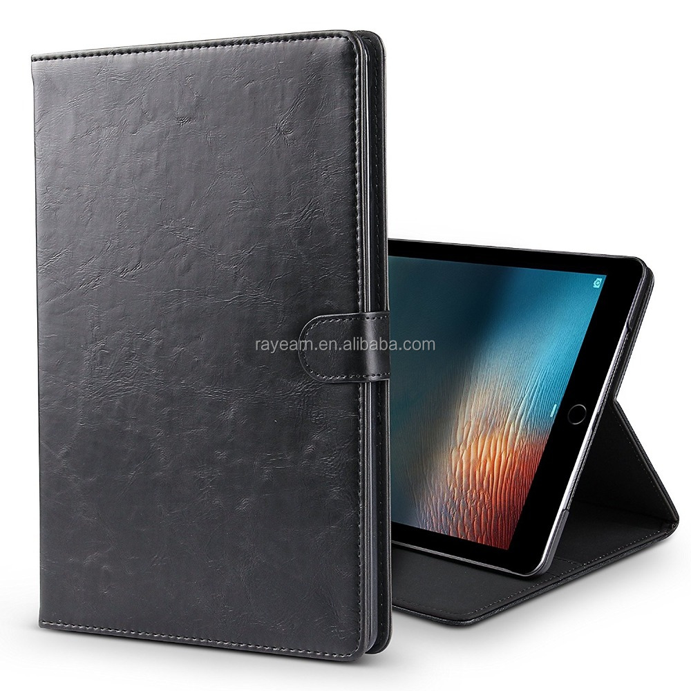 New Smart Auto Sleep/Wake Portfolio Case Flip Stand Cover for Apple Tablet - 9.7 Inch <strong>iPad</strong> (2017) with Card Document Pockets