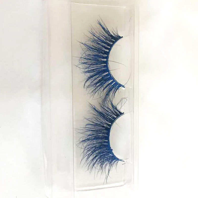 Eyelash Vendor 3D Handmade Colorful Lashes 100% Real Mink Fur Eyelashes Private Label Mink Strip Eyelashes cm23 фото