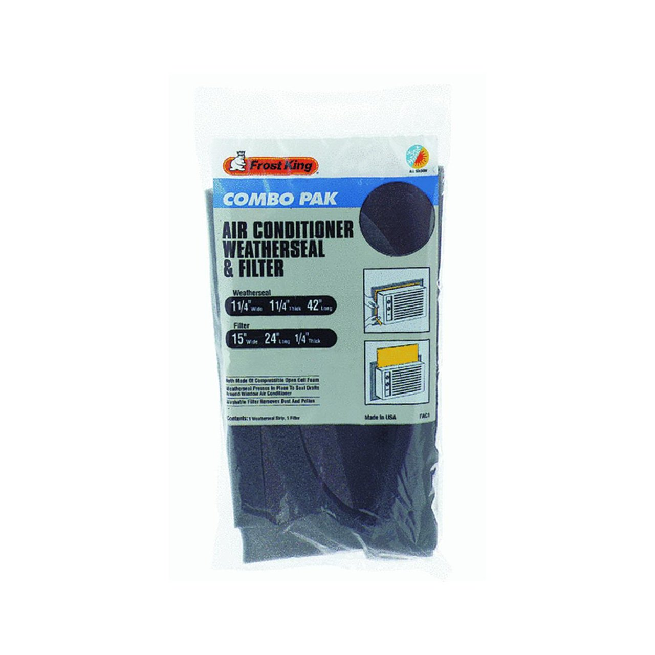 Thermwell Prods. Co. FAC1 Air Conditioner Filter And Weatherseal Kit