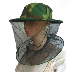 YOUME Insect Mosquito Net Mesh Face Fishing Hunting Outdoor Camping Hat Protector Cap