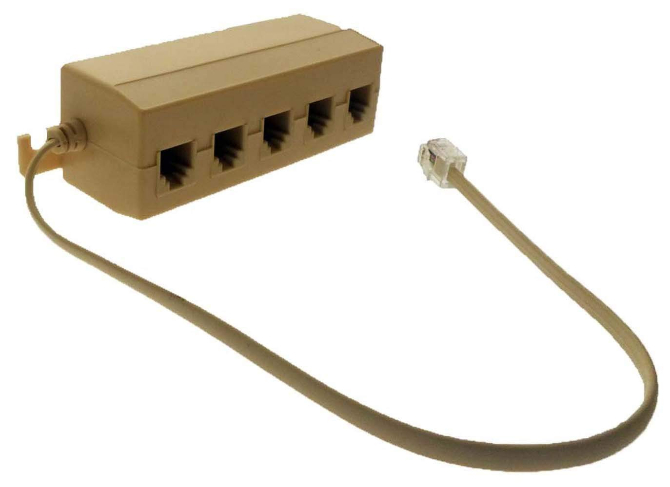 Cheap Phone Jack Outlet Find Deals On Line At Biscuit Wiring Get Quotations Oem 5 Way Telephone Multiple Modular