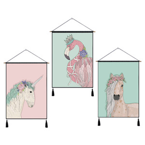 Top quality multi purpose unicorn printing baby room wall decor