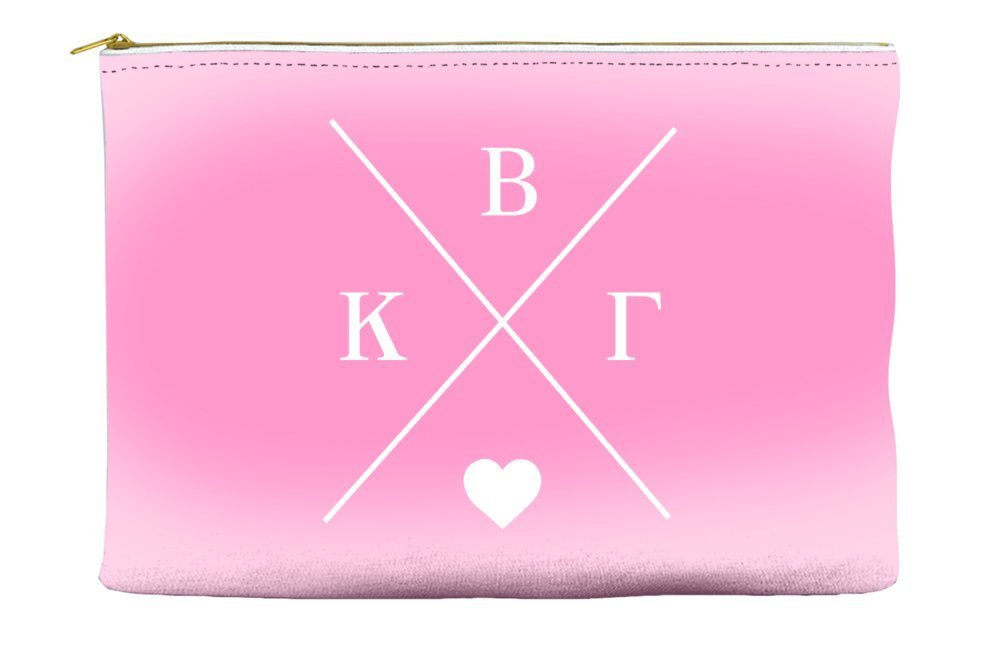 Kappa Beta Gamma Hipster Logo Pink Cosmetic Accessory Pouch Bag for Makeup Jewelry & other Essentials