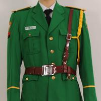 Men security guard uniforms green fabric safety guard uniforms design
