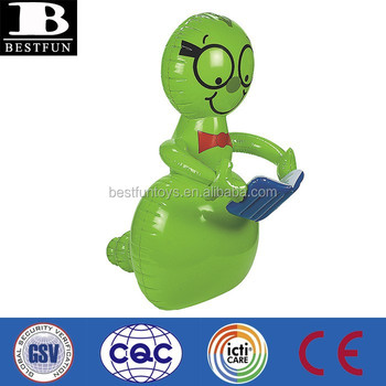 Factory Customized Inflatable Giant Bookworm Pvc Animate Figures