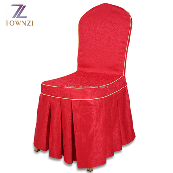 Exceptionnel Guangzhou Townzi Jacquard Beach Chair Cover Factory Hot Sale Weddings  Embroidered Banquet Cheap Red Chair Covers