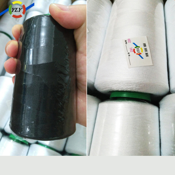 Chinese supplier cotton stock lot raw materials polyester cheap sewing thread 40/2 20/3