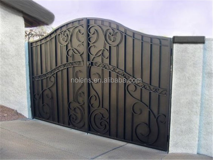 Garden Different Steel Gate Designs/outdoor Fence Temporary Fence/used  Wrought Iron Gate