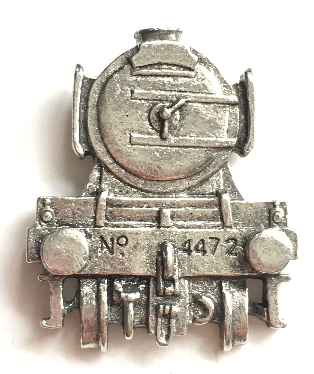 Fine Pewter Flying Scotsman Train Front View Pin Badge with Gift Pouch