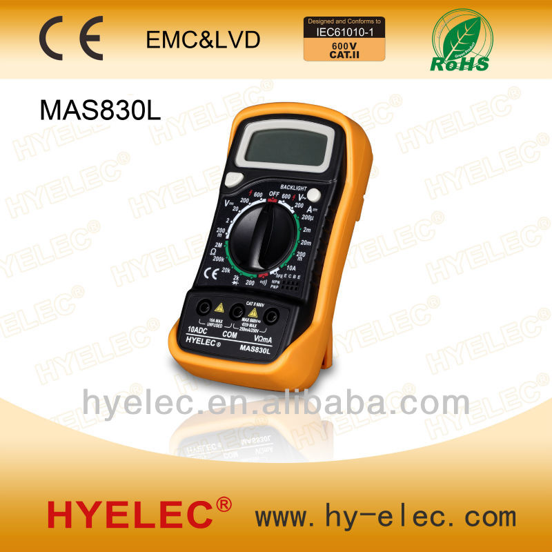 MAS830L Portable Digital Multimeter