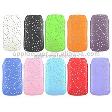 China supplier leather pouch case for samsung galaxy s4 with bling , for samsung s4 cell phone case