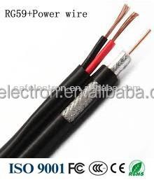 Rg6 Siamese Coax Cable 18/2 Bare Copper Power Wire Cctv Camera - Buy ...