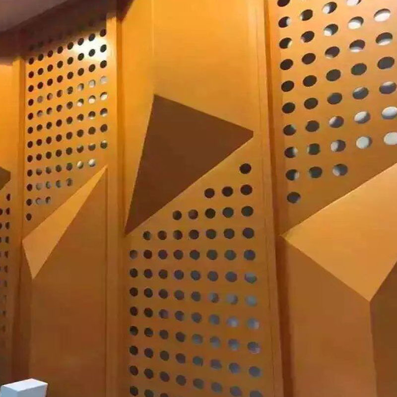 Customized perforative punched pvdf aluminum panel for curtain wall cladding