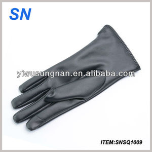 Women GENUINE Soft LAMBSKIN Leather Winter Driving Gloves Touch Screen Xms Gift