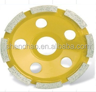 100*22.23/16mm single cup wheel have long grinding life for grinding and polishing concrete,masonry,brick,block etc