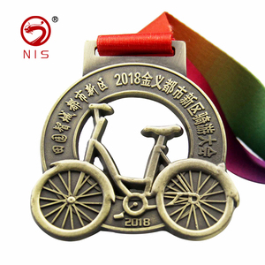 Custom antique color hollow shape sport cycling medal