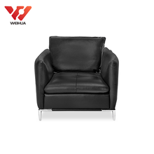 comfy single seat leather modern sofa black leather chair