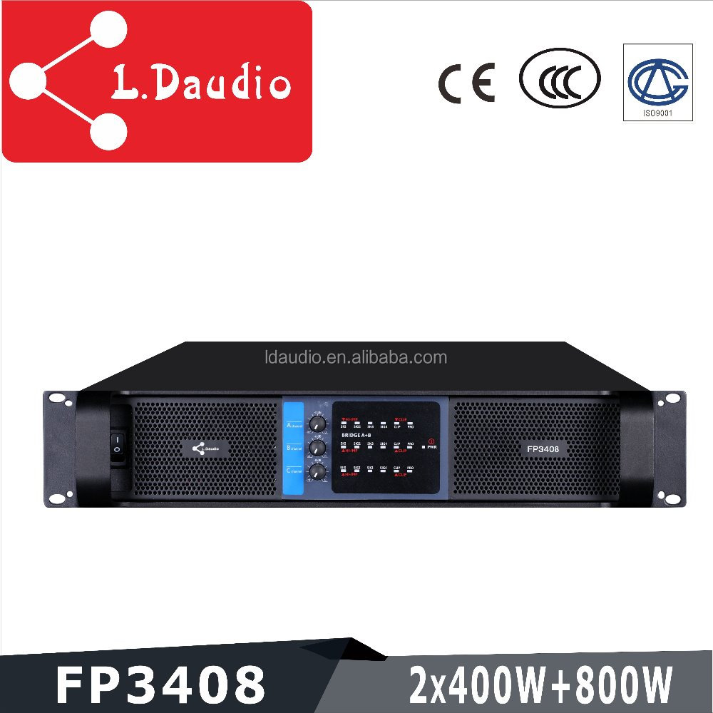 best price high quality 3 channel 400w dj music class AB amplifier