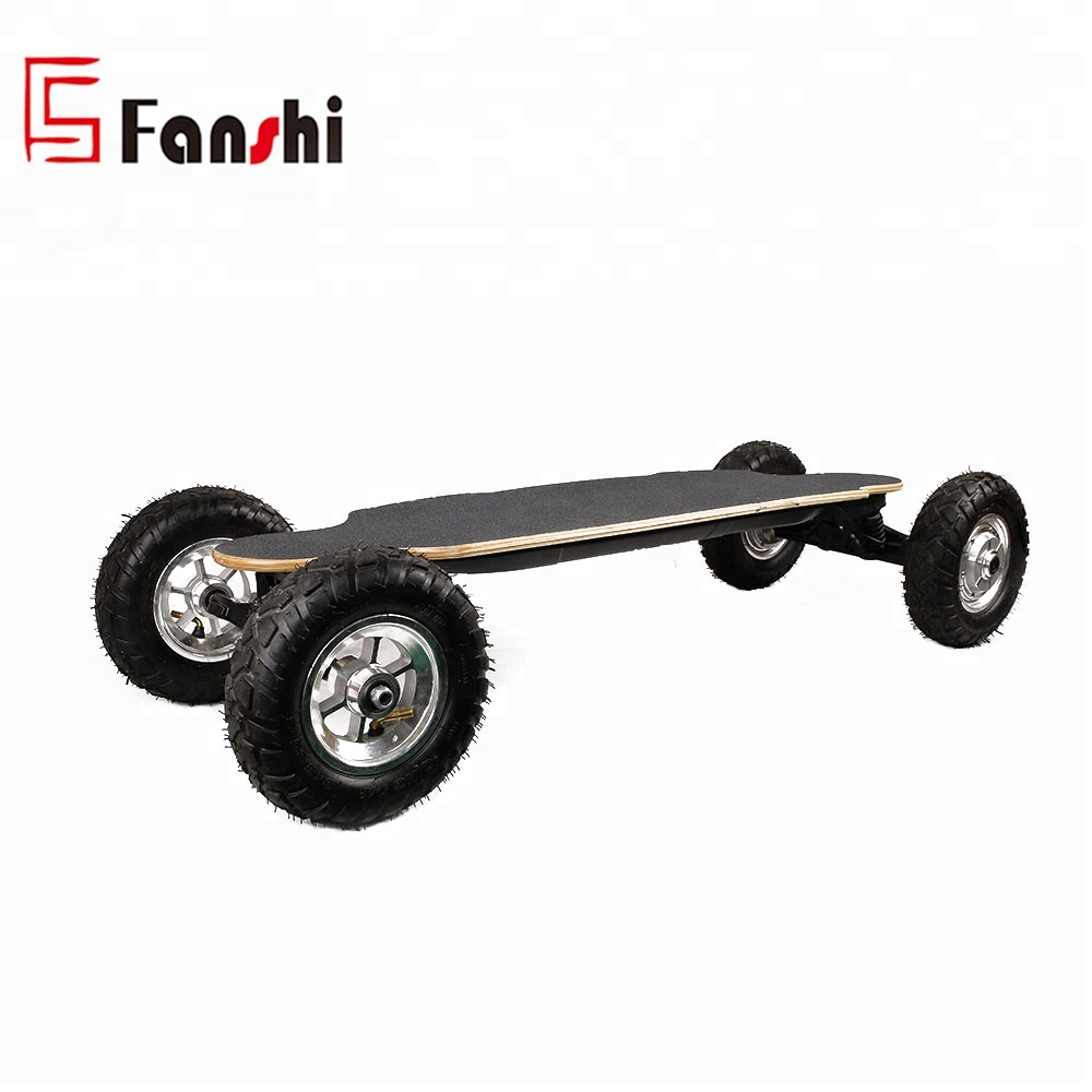 10inch Tire Powered fashional 1650W*2 Dual Motor Off-road Outdoor Electric Skateboard Speed Up To 35km/h And Max Distance 20km