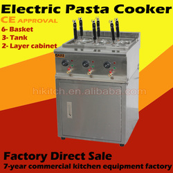 Commercial restaurant electric pasta noodle boiler cooker with cabinet