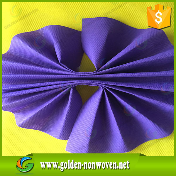 Golden high quality blue spunbond pp non woven interlining fabric/non woven fabric raw material for bags/color nonwoven fabric