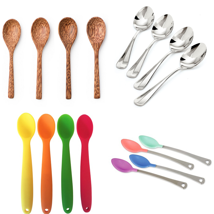 Japanese style soup small round stainless steel coffee ice spoon