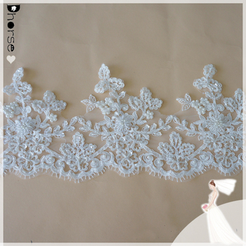 Dhorse Bridal Lace/wholesale Bridal Lace Trim 19cm Wide/beads And ...