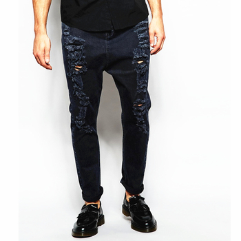 Rugged Jeans Men Distressed Denim Man