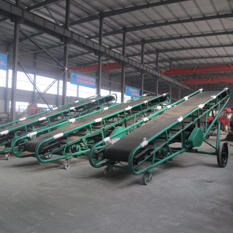 Mobile Grain Belt Conveyor For Concrete Cleated Conveyor Belt - Buy  Portable Coal Belt Conveyors,Portable Flat Belt Conveyor,Desktop Belt  Conveyor