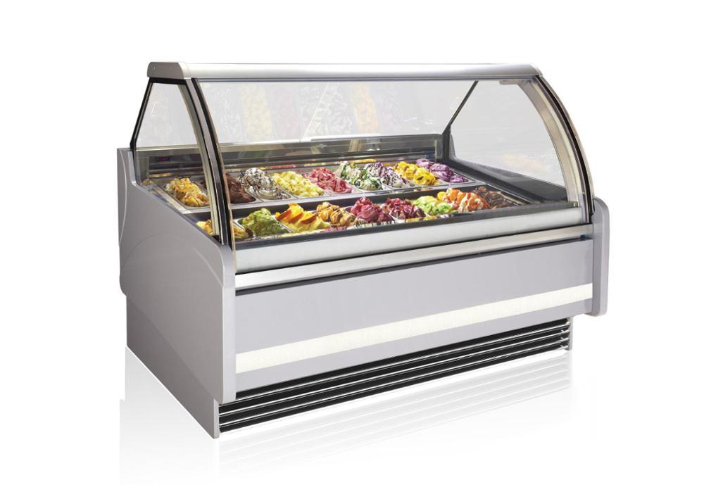 Table Top Ice Cream Showcase/ice Cream Refrigerator Display ...