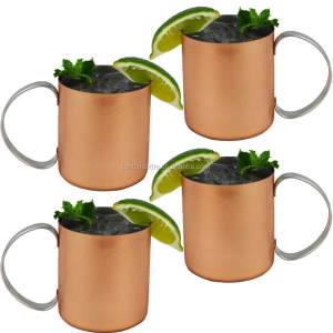 stainless steel Copper Moscow Mule Mugs, Moscow Mule Mug Copper Coated Cup Beer tumbler,14oz vodka copper cup